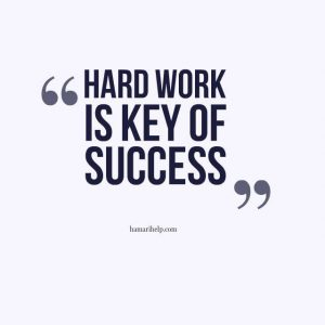 Hard work is key of success